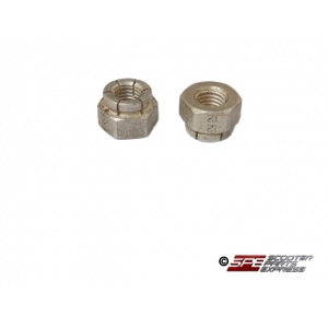 Exhaust Stud Nuts (Pair) GY6 6M Locking Alloy