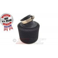 "Air Filter 38mm 1 1/2"" 30 Degree High Flow Pod Dual Layer"