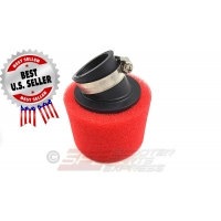 "Air Filter 42mm 1 5/8"" 30 degree High Flow Pod Dual Layer"