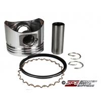 Piston & Ring Set, (50mm/15mm Wrist Pin), GY6-100, for the Big Bore, 139QMB, Upgrade on GY6 50cc