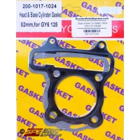 Gasket Head & Base Set 52mm GY6 125 152QMI 152QMJ Scooter Moped ATV