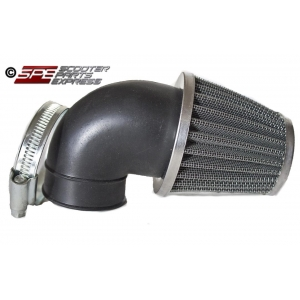 "Air Filter 35mm 1 3/8"" 90 degree Performance Chrome Cone"