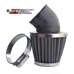 "Air Filter 42mm 1 5/8"" 30 Degree Performance Blue Chrome Cone"