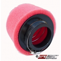 "Air Filter 48mm 1 7/8"" Red Straight High Flow Pod Dual Layer"