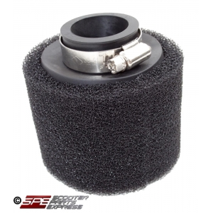 "Air Filter 38mm 1 1/2"" Straight High Flow Pod Dual Layer"