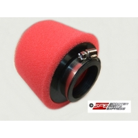 "Air Filter 35mm (1 3/8"") Red, Straight, Performance, High Performance, High Flow, Pod Style, Dual Layer"