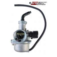 Carburetor, (21mm), PZ21, Right Manual Choke, 4 Stroke Honda style Horizontal engine Dirt Pit Bike Quad ATV CT 110 - 125cc