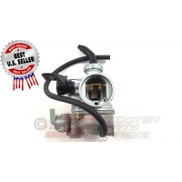 Carburetor 22mm PZ22 Left Manual Choke Horizontal 4 Stroke Dirt Pit Bike Quad ATV