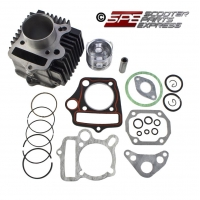 Cylinder Top-End Rebuild Kit, Complete, 1P50FMGF, 100cc, 49mm,  4-stroke, Honda style Horizontal