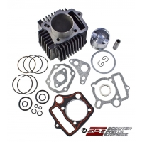 Cylinder Top-End Rebuild Kit, Complete, 1P52FMH, 110cc,  52.4mm, 4-stroke, Honda style Horizontal