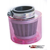 Air Filter, 38mm, 4-Stroke HP Air Filter, Straight, Shielded Chrome Cone, 4 Stroke PZ-22, 49cc - 125cc Honda Style Horizontal, GY6-50 139QMB Engine