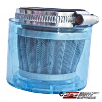 Air Filter, 42mm, 4-Stroke HP Air Filter, Straight, Shielded Chrome Cone, 4 Stroke 125cc, 150cc, 152QMI 152QMJ 157QMI 157QMJ