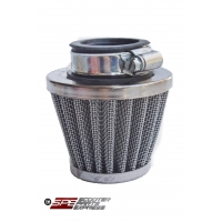 Air Filter, 35mm, 4-Stroke HP Air Filter, Straight, Chrome Cone, 4 Stroke 49cc - 125cc Honda Style Horizontal, GY6-50 139QMB Engine