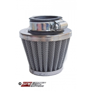 "Air Filter 35mm 1 3/8"" Straight Performance Chrome Cone"