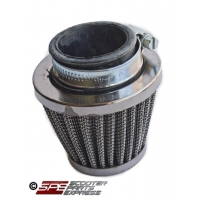 "Air Filter 38mm 1 1/2"" Straight Performance Chrome Cone"