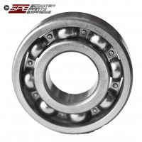Bearing, 6204, 20mm x 47mm x 14mm, Open, Deep Groove Ball Bearing, Chrome Steel, 1PE40QMB, 157QMJ