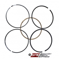 Piston Rings, 100cc, 49mm, 1P50FMG, 4-stroke, Honda Style Horizontal Engine