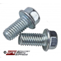 M6 x 1.00 x 12, Flanged Head Bolt,  (Set of 2), GY6