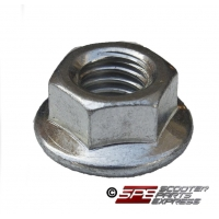 Cylinder Bolt Nuts, M8 x 1.25, Smooth Flanged Nut,  for the GY6-125/150 152QMI 152QMJ 157QMI 157QMJ